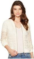 BB Dakota Manuel Crochet Lace Bomber Women's Coat