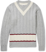 Tomas Maier - Slim-fit Cable-knit Wool Cricket Sweater
