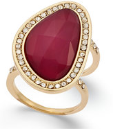 INC International Concepts Large Stone and Pavé Double Shank Statement Ring, Only at Macy's