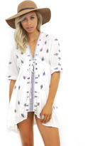 West Coast Wardrobe Sun Seeker Embroidered Dress in White