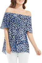 Vince Camuto Leopard Song Off the Shoulder Blouse