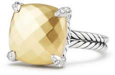 David Yurman 14mm Châtelaine 18K Gold Dome Ring with Diamonds