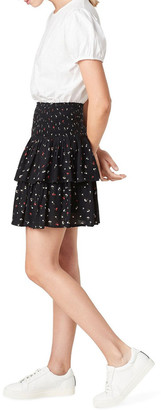 French Connection Mini Ditsy Ruffle Skirt