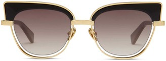 Oliver Goldsmith Sunglasses The 2000S Polished Yellow Gold
