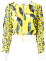 Cacharel pineapple print bomber jacket - women - Silk - 36
