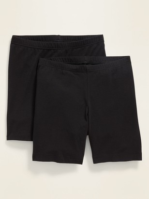 Old Navy Mid-Rise Bike Shorts 2-Pack for Women - 7-inch inseam