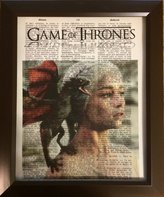 Ready Prints Game of Thrones Dictionary Book Page Artwork Print Picture Poster Home Office Bedroom Wall Decor
