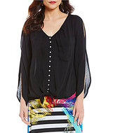 Chelsea & Theodore Tie-Front Blouse