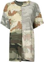 MM6 MAISON MARGIELA camouflage patchwork T-shirt