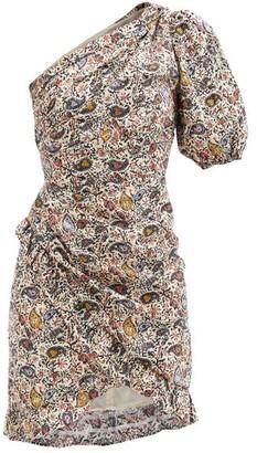 Etoile Isabel Marant Esthera Asymmetric Printed Cotton-poplin Dress - Ivory