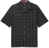 Mcq Alexander Mcqueen - Billy Camp-collar Cotton-jacquard Shirt
