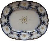 One Kings Lane Vintage Antique Flow Blue Ironstone Platter