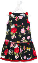 MonnaLisa floral print dress - kids - Cotton/Spandex/Elastane - 4 yrs