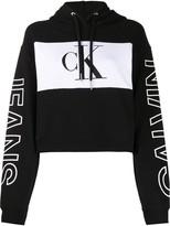 Calvin Klein Jeans colour-block cropped hoodie