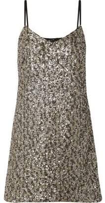 Anna Sui Twinkling Stars At Night Sequined Mesh Mini Dress