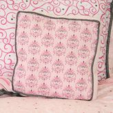 Caden Lane Luxe Square Pillow in Pink