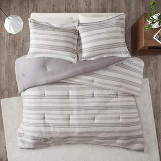 Nobrand No Brand Mason Stripe Print Ultra Soft Cotton Blend Jersey Knit Comforter Set