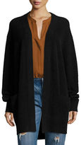 Vince Boiled Cashmere Open-Front Long-Line Cardigan