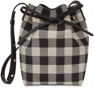 Mansur Gavriel Mini Bucket Bag - Black Checker