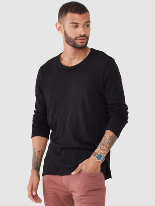ATM Anthony Thomas Melillo Slub Jersey Long Sleeve Destroyed Wash T-Shirt