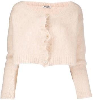 Miu Miu Textured Cropped Cardigan