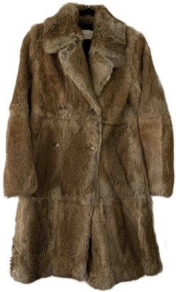Sandro Fall Winter 2018 Brown Rabbit Coat for Women