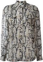 Kenzo snakeskin print shirt - women - Polyester - 38