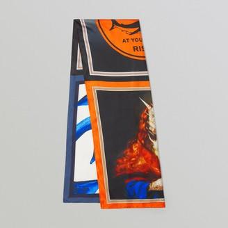 Burberry Montage Print Silk Scarf