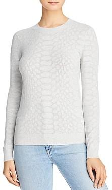 Minnie Rose Snakeskin Mesh Sweater