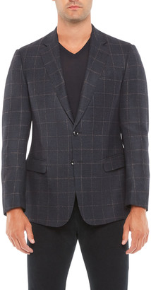Giorgio Armani Men's Plaid Sport Jacket