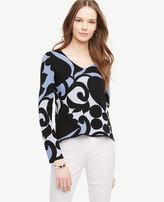 Ann Taylor Tulip V-Neck Sweater