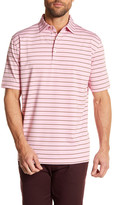Peter Millar Moisture Wicking Quarter Stripe Stretch Jersey Golf Polo