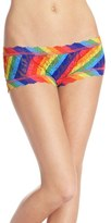 Hanky Panky Women's 'Rainbow Stripe' Lace Boyshorts