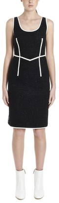 Boutique Moschino Contrasting Piping Tweed Dress