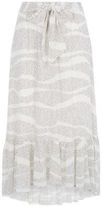 Mint Velvet Ivory Spot Print Boho Skirt