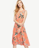 Ann Taylor Petite Coral Oasis Dress