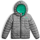 The North Face Leopard-Print ThermoBall Hooded Jacket, Gray, Size 2-4T