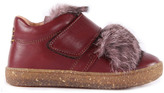 Ocra Fur and Leather Velcro Trainers