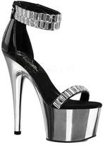 Pleaser USA Women's Adore 769RS Platform Ankle-Strap Sandal