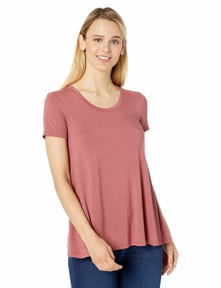 Daily Ritual Amazon Brand Jersey Short-sleeve Scoop Neck Swing T-shirt Dusty Pink) ((Size: Xx-Large)