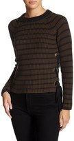 Romeo & Juliet Couture Waffle Knit Lace-Up Sweater