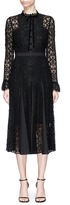 Temperley London 'Eclipse' velvet pussybow corded floral lace dress