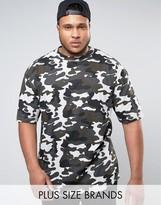 Duke Plus Camo T-Shirt In Grey