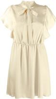 RED Valentino Ruffle Detail Short Dress