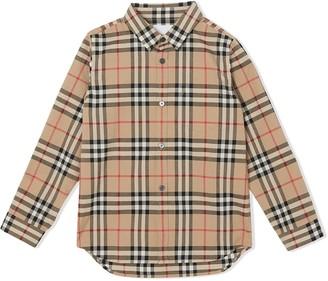 Burberry Kids Archive Beige Button-up Shirt
