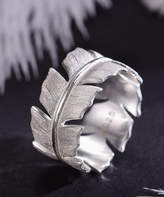 Lotus Fun Women's Rings Silver - Sterling Silver Leaf Ring