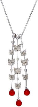 Diana M 18K 5.80 Ct. Tw. Diamond & Coral Necklace