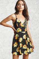 Forever 21 Floral Surplice Dress