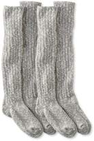 L.L. Bean Womens Cotton Ragg Boot Socks, Knee-High Two-Pack
