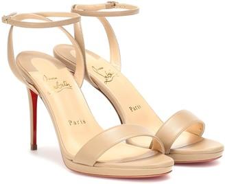 Christian Louboutin Loubi Queen 100 leather sandals